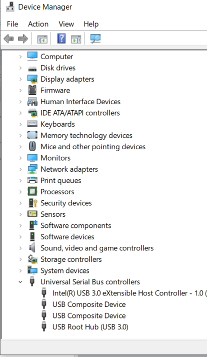 Device Manager Tree